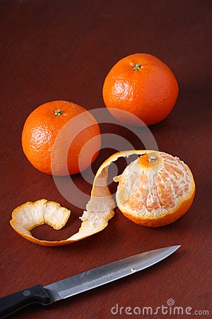 Three Mandarin Oranges