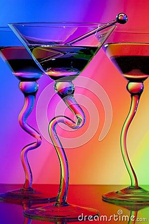 Free Three Martini Glasses Royalty Free Stock Image - 14874976