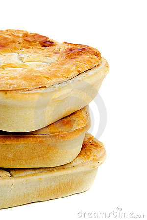 Free Three Meat Pies Royalty Free Stock Images - 9700369