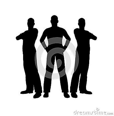 Free Three Men Silhouette Royalty Free Stock Photos - 2218118