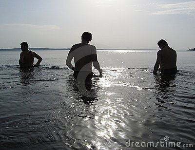 Three men on the water
