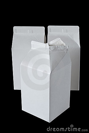 Three Milk Boxes per half liter on black