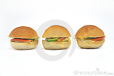 Three Mini Sandwiches