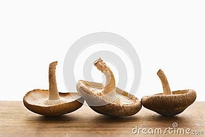 Three mushrooms.