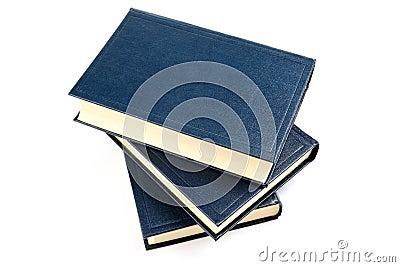 Three old books.
