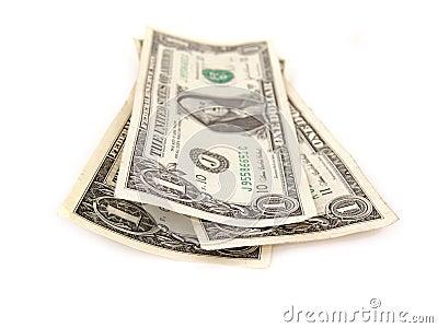 Three one dollar bills