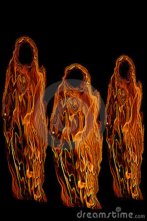 Free Three Orange Halloween Ghosts Or Ghouls Stock Photos - 11549543