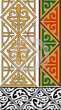 Three ornamental borders