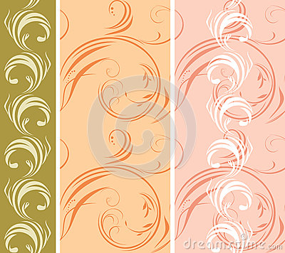 Three ornamental patterns for borders
