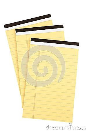 Three pads of paper