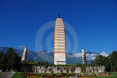 The three pagodas of the chongsheng Temple