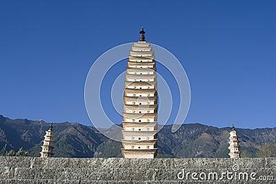 Three Pagodas, Dali, Yunnan, China