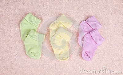 Three pairs of baby socks