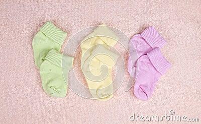 Three pairs of baby socks