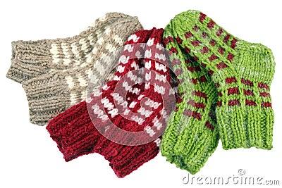 Three pairs socks