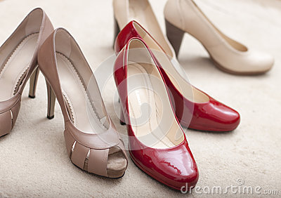 Three pairs of  woman s shoes