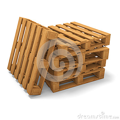 Three pallets stack