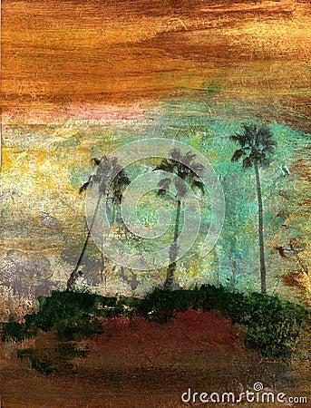 Three Palm Trees