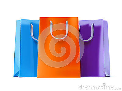 Three paper bags