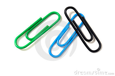 Three paper- clips.