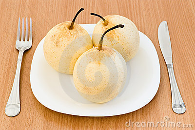 Three Pears Stock Photos - Image: 10895003