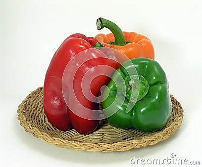 Three Pepper Still Life