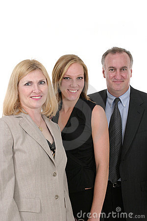 Three Person Business Team 1