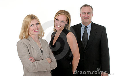 Three Person Business Team 2