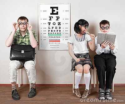 Three person wearing spectacles