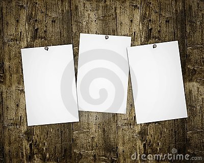 Three photos on wooden board
