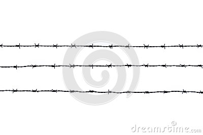 Three  pieces of barbed wire