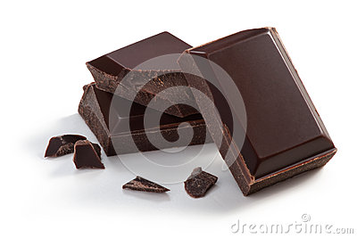 Three  pieces of Chocolate
