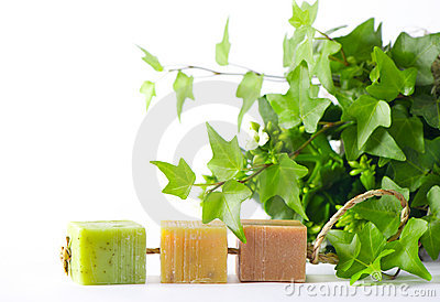 Three pieces of organic soap
