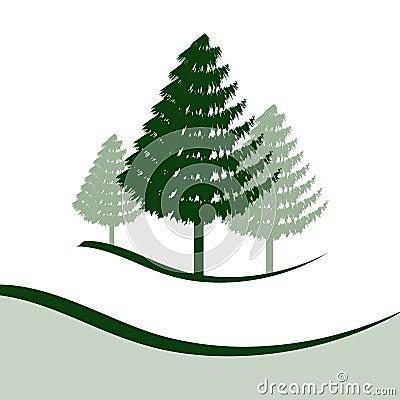 Three Pine Trees