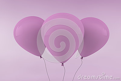 Three Pink Balloons