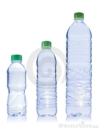 Three Plastic bottle of water