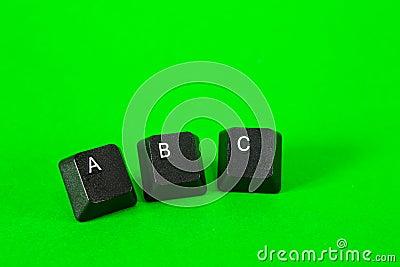 Three plastic keys