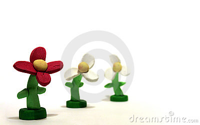 Three Plasticine Flowers