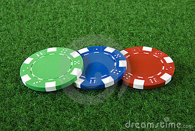 Three poker chips