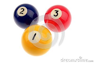 Three pool balls