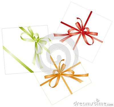 Free Three Presents, Ribbons, Bows Stock Photography - 2714172