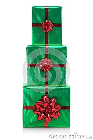 Three presents stack