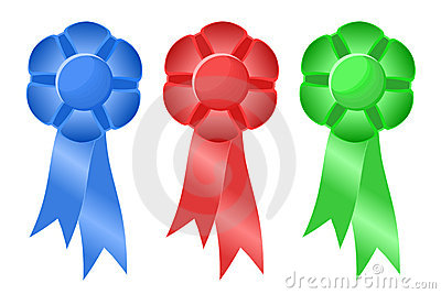 Three Prize Ribbons