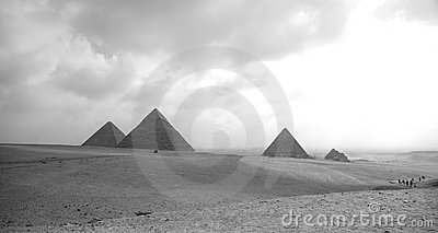 The three Pyramides of Giza.