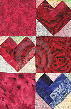 Three Quilted Hearts