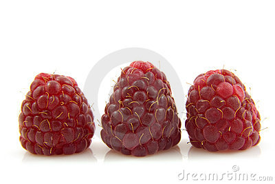Three raspberries in a row