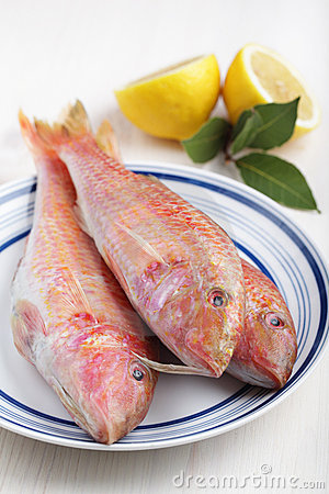 Free Three Raw Goatfishes Royalty Free Stock Image - 19763966