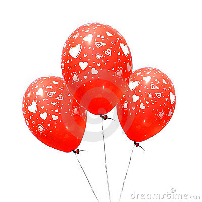 Free Three Red Balloons Stock Photography - 7243452