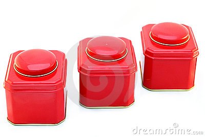 Three red boxes