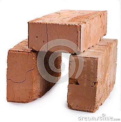 Three red-brick